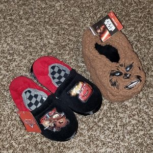 DISNEY CARS & STAR WARS CHEWBACCA SLIPPERS
